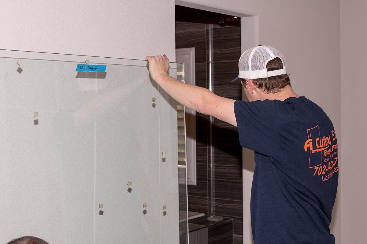 custom shower door install u2013 a cutting edge glass u0026 mirror