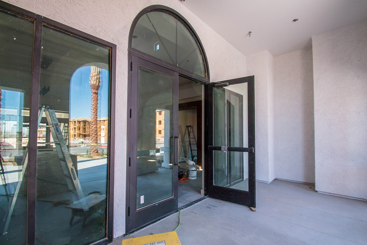 Front Entrance Of Castile Apartments Clubhouse Henderson
