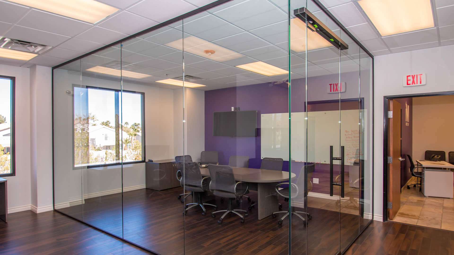 Marsys Law Offices   Heavy Glass Wall Dividers