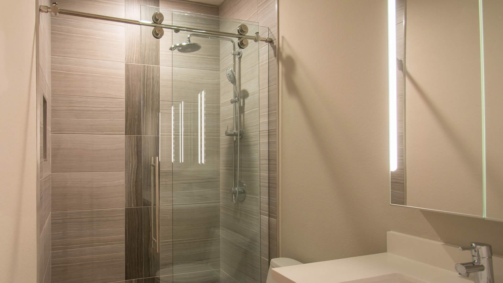 frameless edge enclosure a and enclosures mirror glass shower system cutting door doors