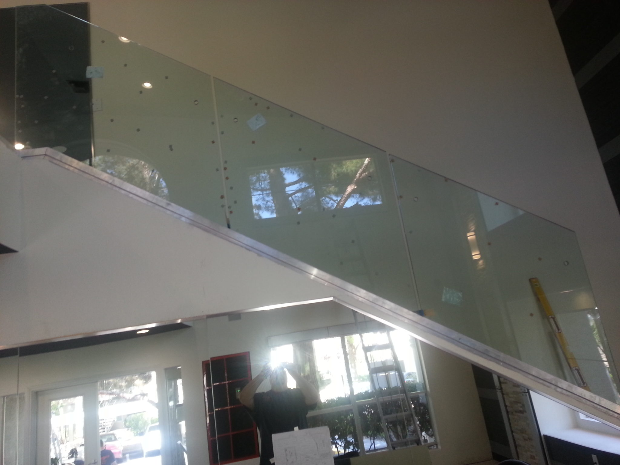 Glass Stair Railing Decoration Concept Custom Glass Stairway Railing - Custom Glass Las Vegas, Nevada